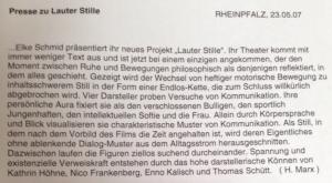 Lauter Stille / Rheinpfalz